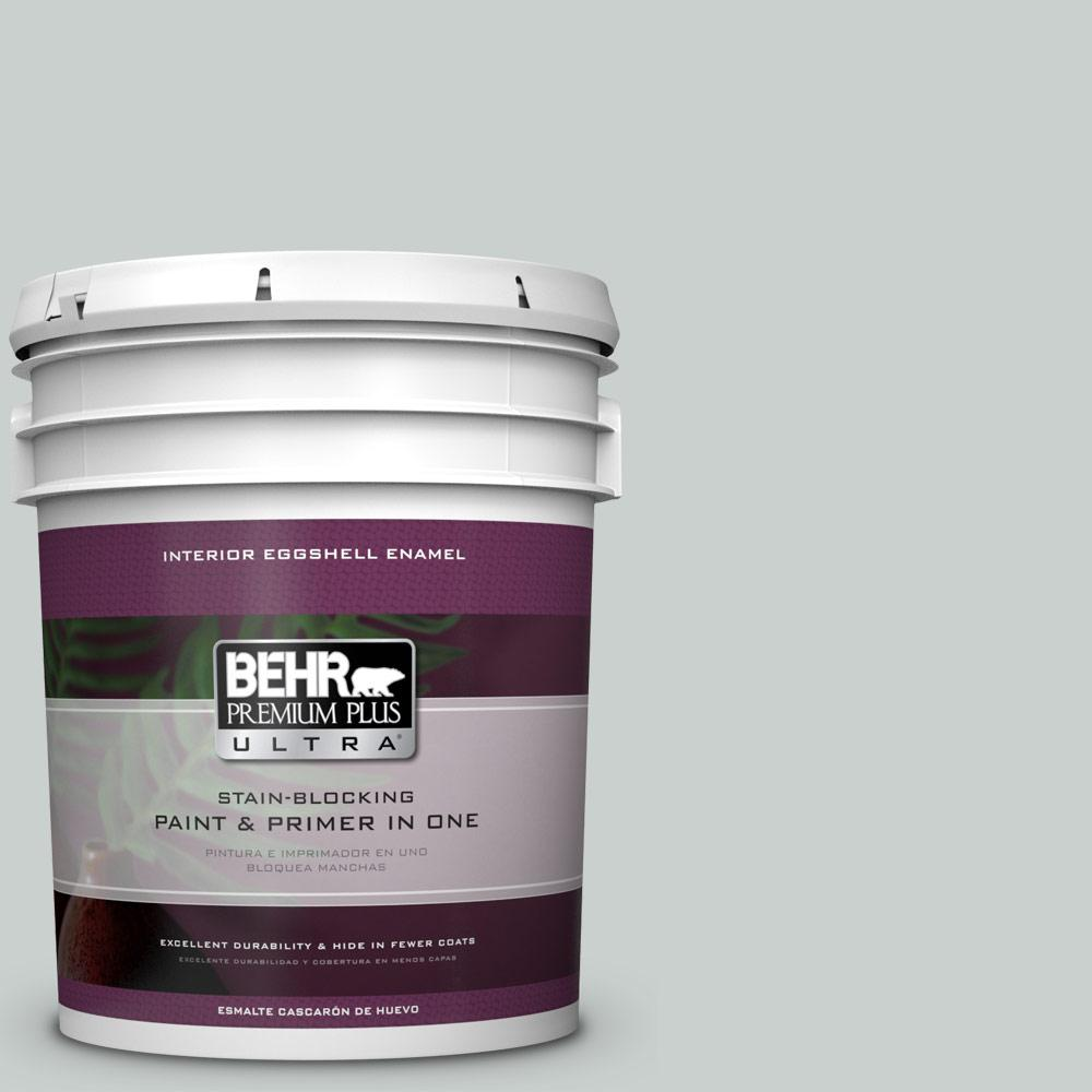 5 gal. #HDC-MD-06G Sparkling Silver Eggshell Enamel Interior Paint
