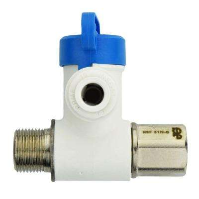 3/8 in. x 3/8 in. x 1/4 in. Polypropylene Push-to-Connect Angle Stop Adapter Valve (10-Pack)