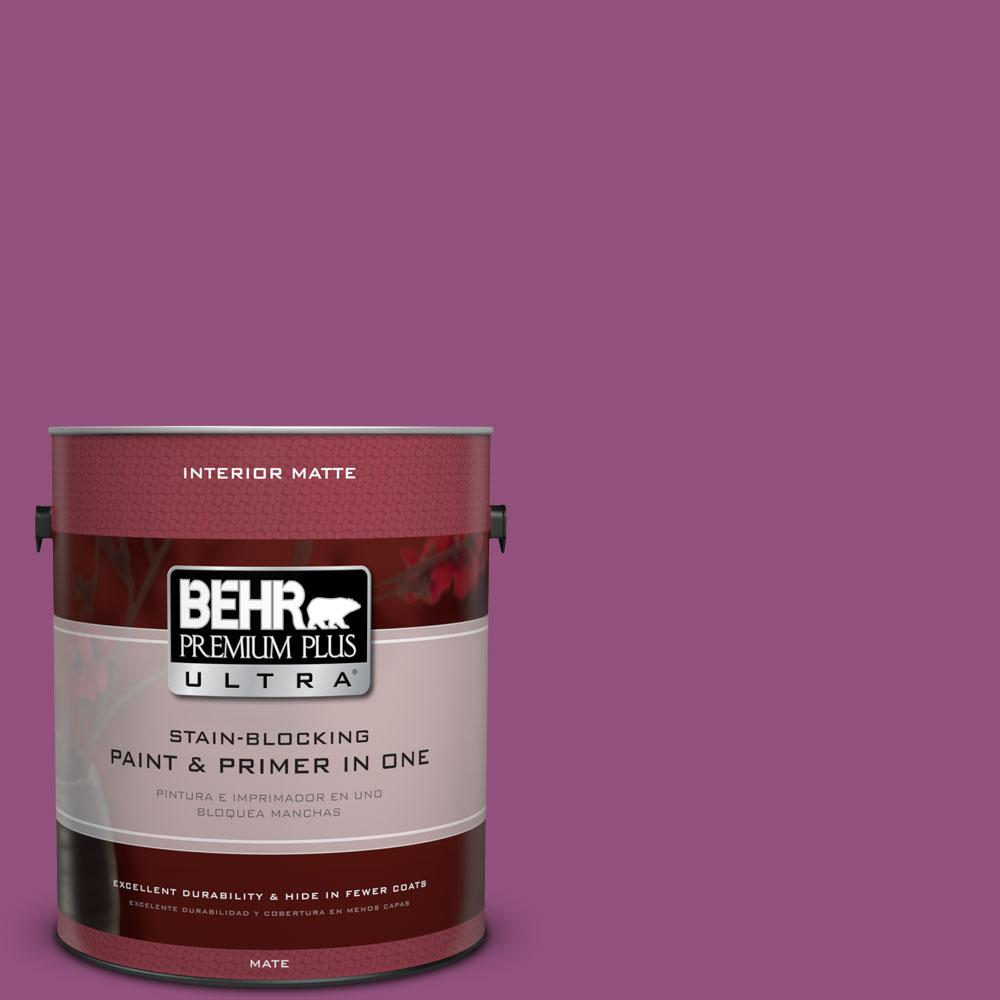 BEHR Premium Plus Ultra 1 gal. #P110-7 XOXO Matte Interior Paint