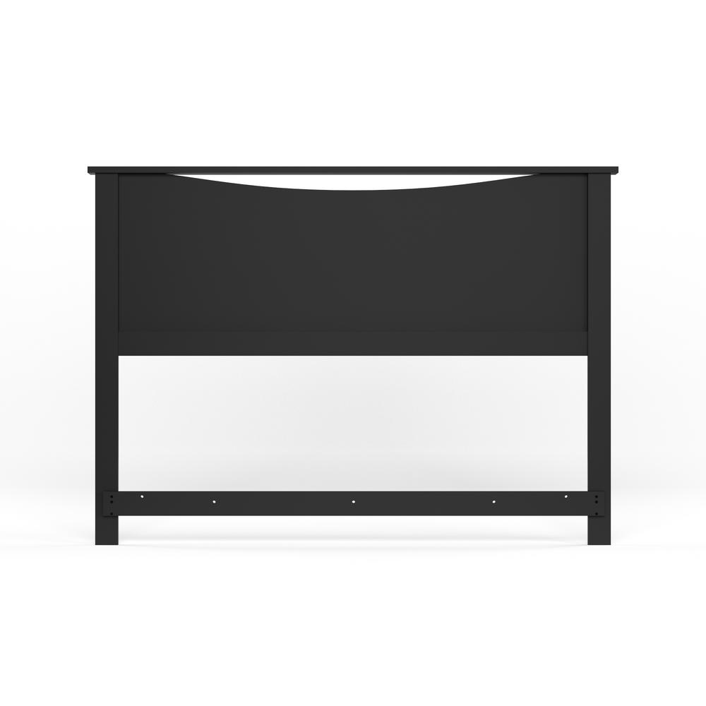 South S Step One Full Queen Size Headboard In Pure Black 3107270 The Home Depot