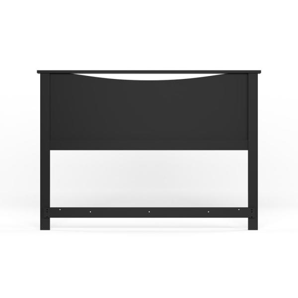 South Shore Step One Full/Queen-Size Headboard in Pure Black