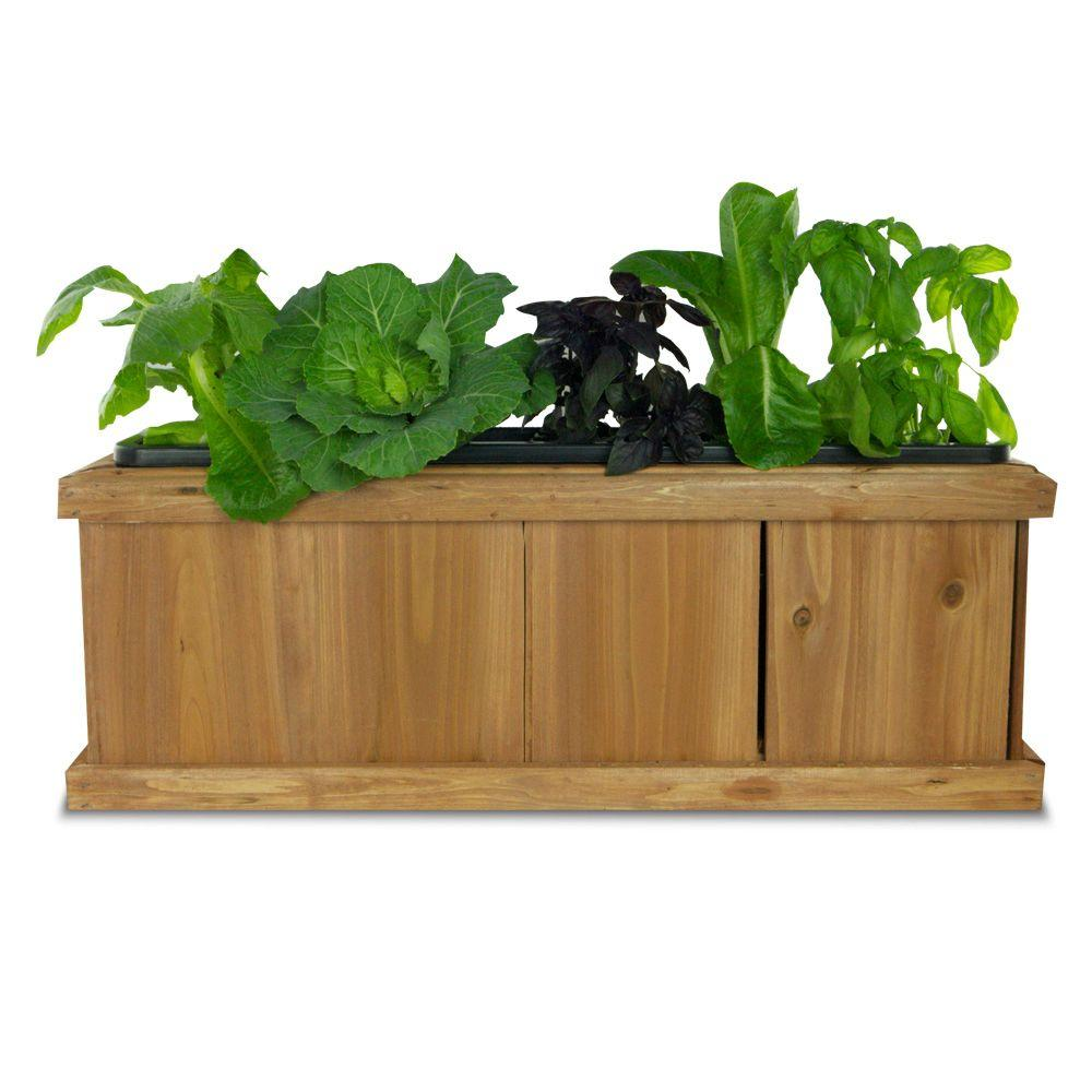 Pennington 40 in x 12 in wood planter box 540 the home depot wood planter box workwithnaturefo