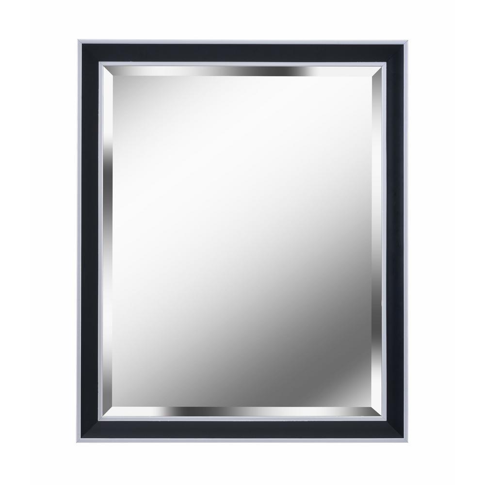 Beau Square Black Decorative Wall Mirror
