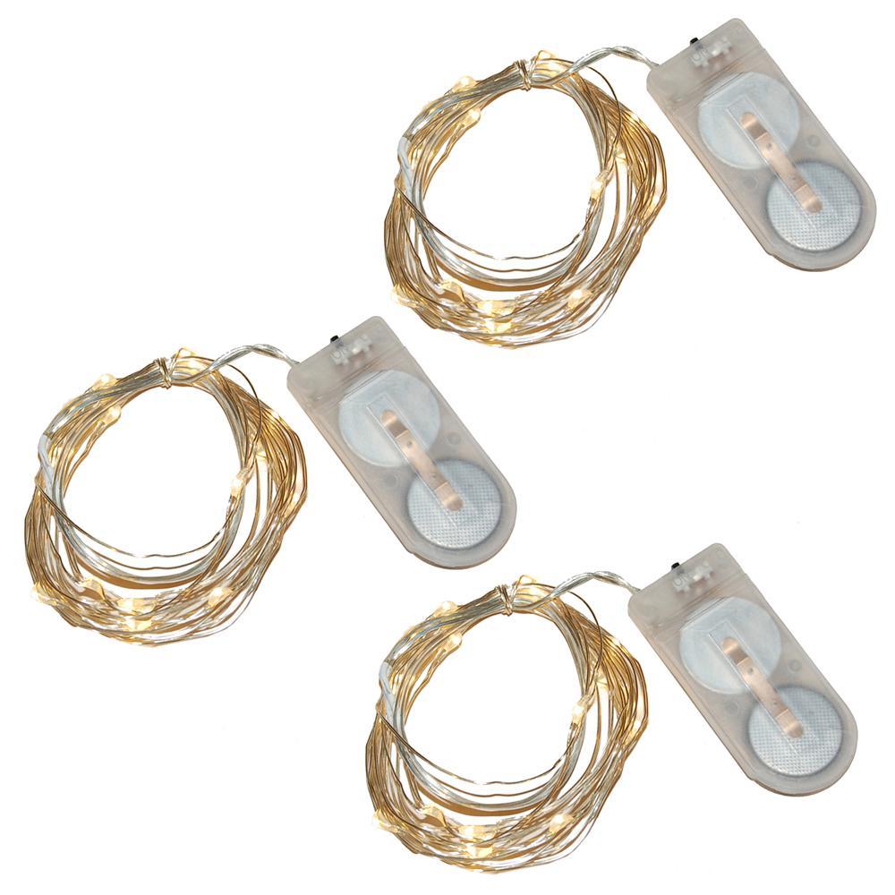 Warm White Battery Operated Waterproof Mini String Lights