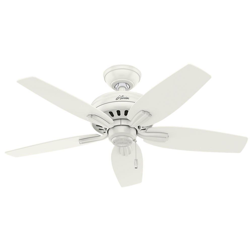 Hunter Newsome 42 In Indoor Fresh White Ceiling Fan With 3 Light Kit