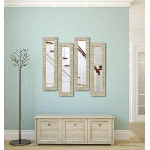10.5 inch x 28.5 inch Tuscan Ivory Vanity Mirror (Set of 4-Panels) by