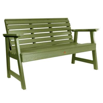 Weatherly 60 in. 2-Person Dried Sage Recycled Plastic Outdoor Garden Bench