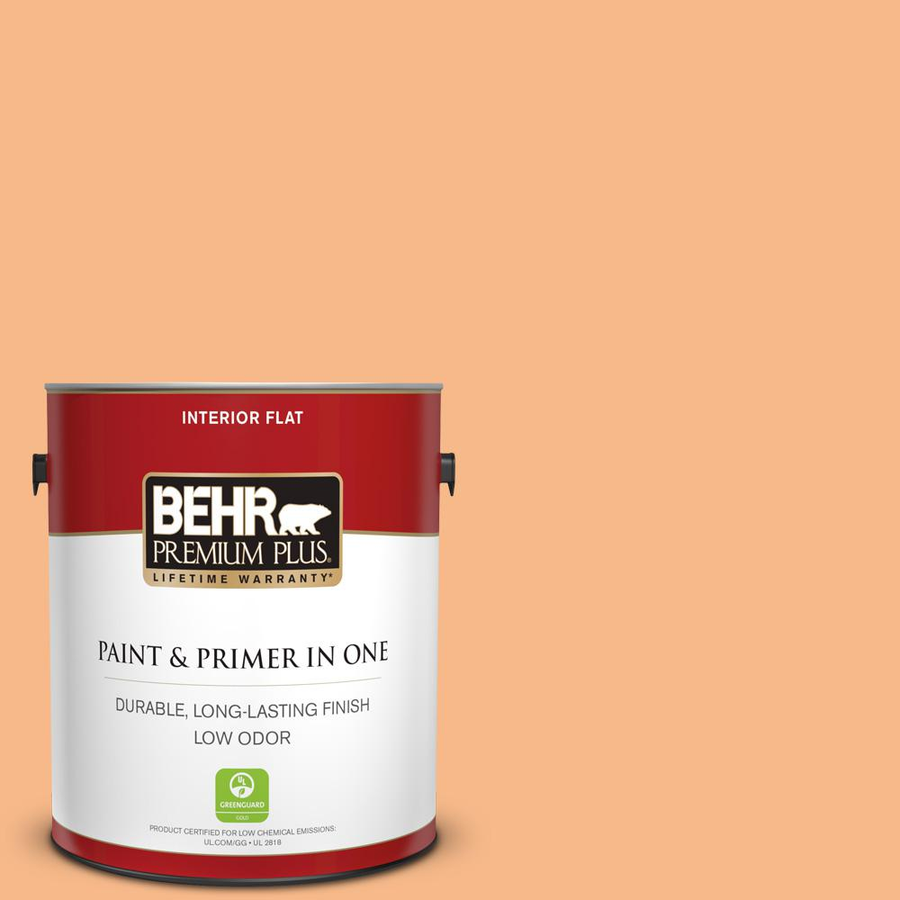 Reviews For Behr Premium Plus 1 Gal 260c 3 Fresh Peaches Flat Low Odor Interior Paint And Primer In One 140001 The Home Depot