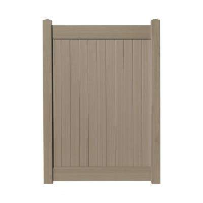 4 ft. W x 6 ft. H Cedar Grove Weathered Cedar Vinyl Privacy Fence Gate