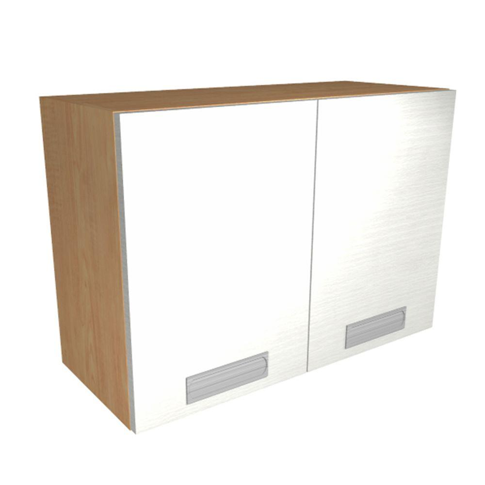 Home Decorators Collection Genoa Ready to Assemble 30 x 24 x 12 in. Wall Cabinet with 2 Soft Close Doors in Glacier, Glacier White Textured Melamine
