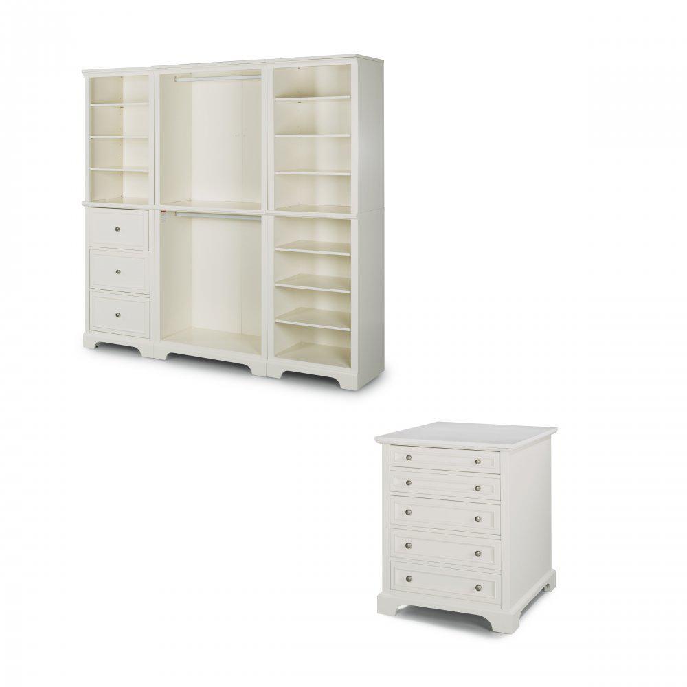 Home Styles Naples White Armoire