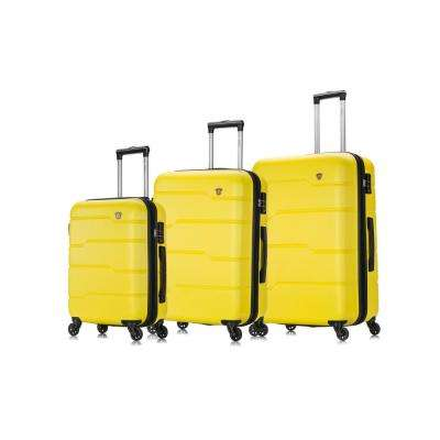 Rodez 20 in./24 in./28 in. Yellow Lightweight Hardside (3-Piece)