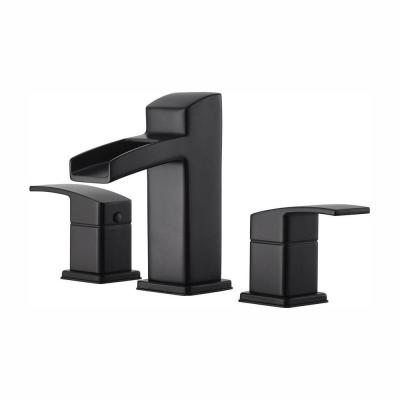 Kenzo 8 in. Widespread 2-Handle Bathroom Faucet in Matte Black
