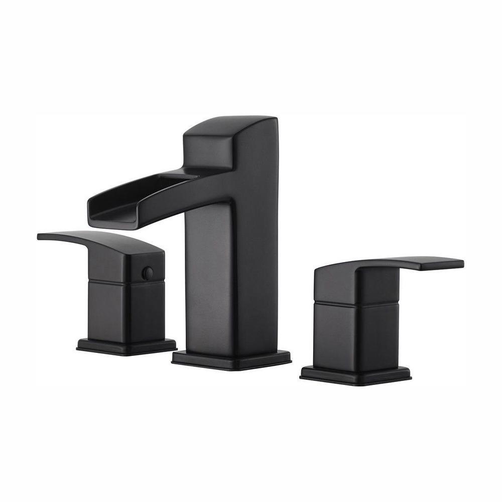 Kenzo 8 in. Widespread 2-Handle Bathroom Faucet in Matte Black