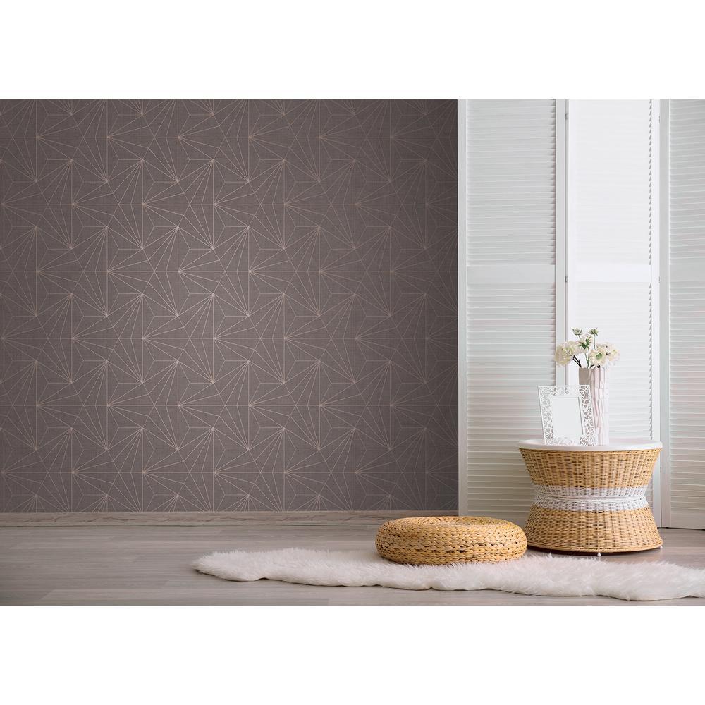 Luzon Brown Geometric Wallpaper