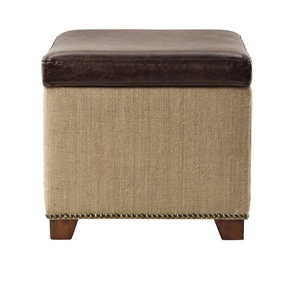 Ethan Brown Storage Ottoman  sc 1 st  The Home Depot & Ottomans - Living Room Furniture - The Home Depot islam-shia.org