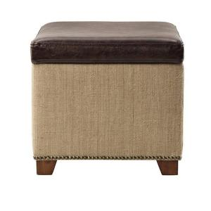 HomeDepot.com deals on Home Decorators Collection Ethan Brown Storage Ottoman