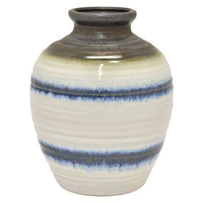 11 in. White Ceramic Vase