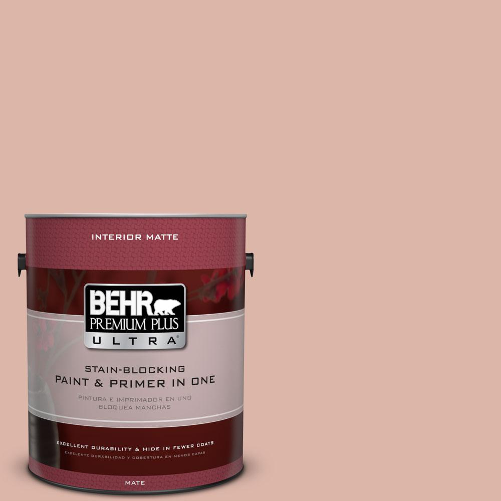 1 gal. #220E-3 Melted Ice Cream Matte Interior Paint and Primer