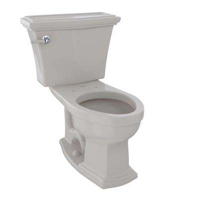 Eco Clayton 2-Piece 1.28 GPF Single Flush Elongated Toilet in Sedona Beige