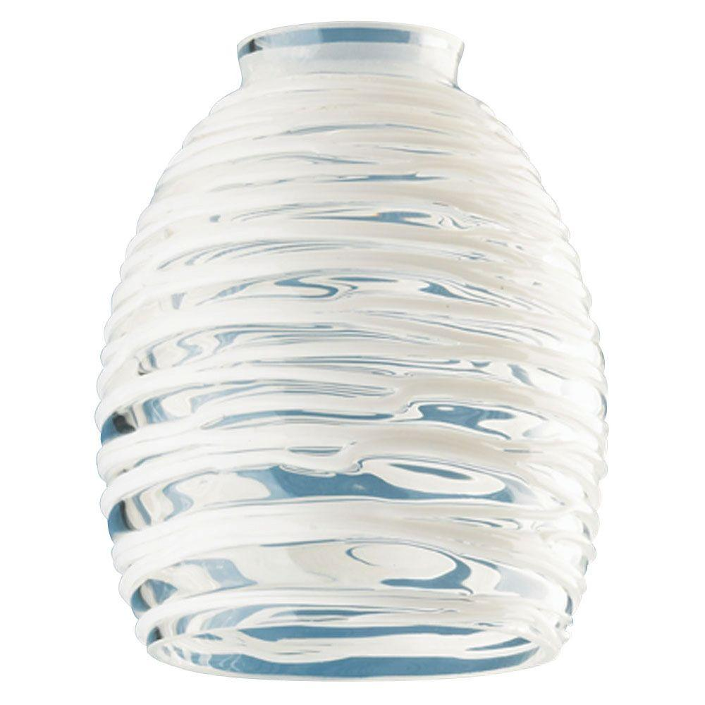 Go Bath Fitter >> Westinghouse 5-3/4 in. Handblown Clear with White Rope ...