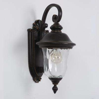 Sugar Pine Collection 1-Light Oil-Rubbed Bronze Outdoor Wall Mount Lamp