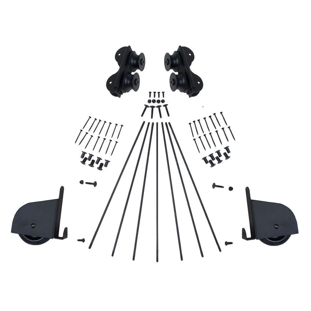 Black Contemporary Rolling Ladder Hardware Kit