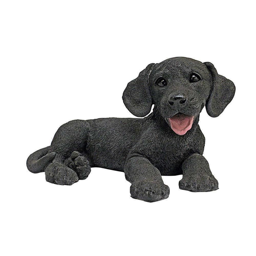 5.5 in. H Black Labrador Puppy Dog Statue
