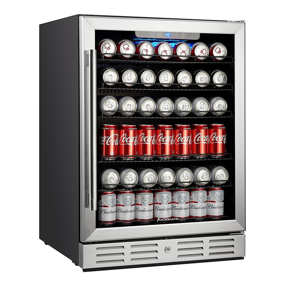 24 in. Built-in Single Zone Beverage Refrigerator with 170 Can 12