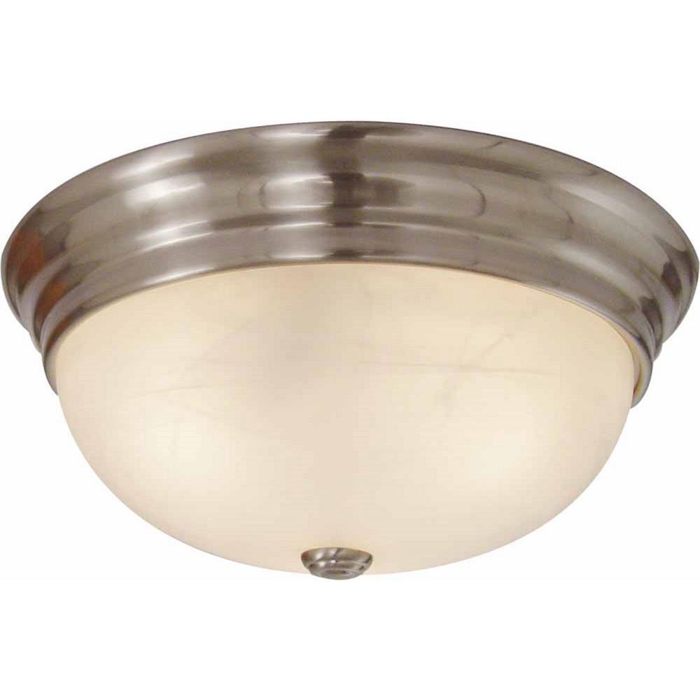 Light Fixtures Trinidad: Volume Lighting Trinidad 3-Light Brushed Nickel Flushmount