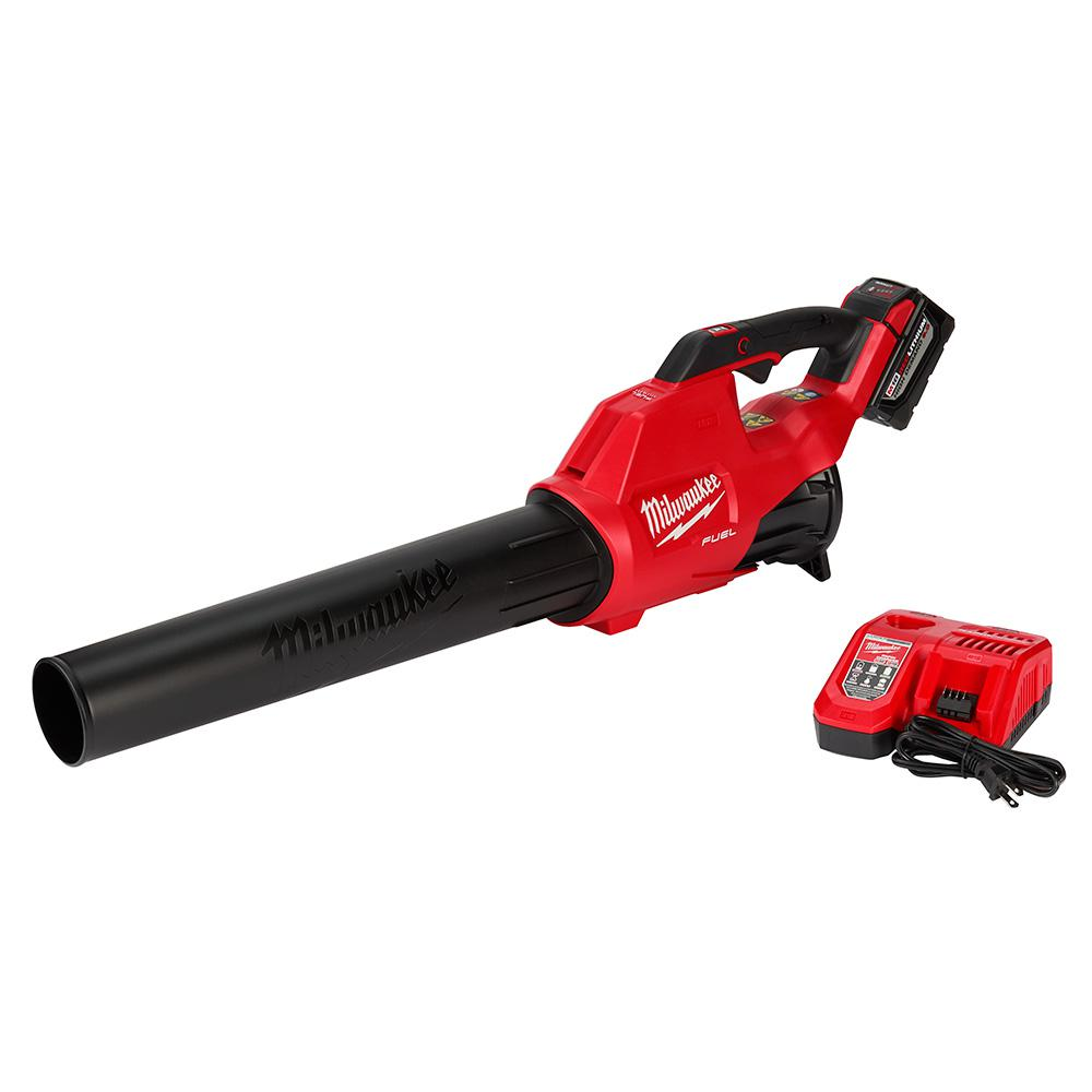 Milwaukee Milwaukee M18 FUEL 120 MPH 450 CFM 18-Volt Lithium-Ion Brushless Cordless Handheld Blower Kit with 9.0 Ah Battery, Rapid Charger