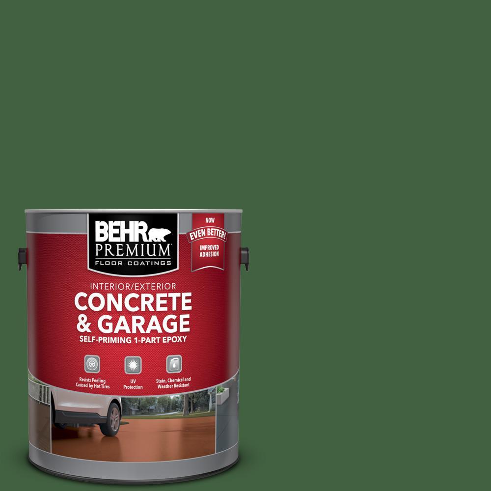 1 gal. #S400-7 Deep Viridian Self-Priming 1-Part Epoxy Satin Interior/Exterior Concrete and Garage Floor Paint