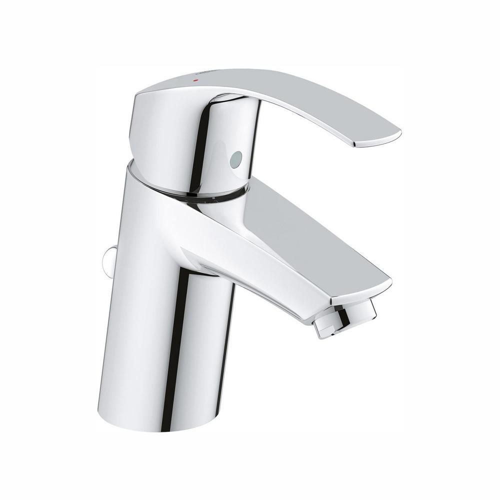 Eurosmart New Single Hole Single-Handle 1.2 GPM Bathroom Faucet in StarLight Chrome
