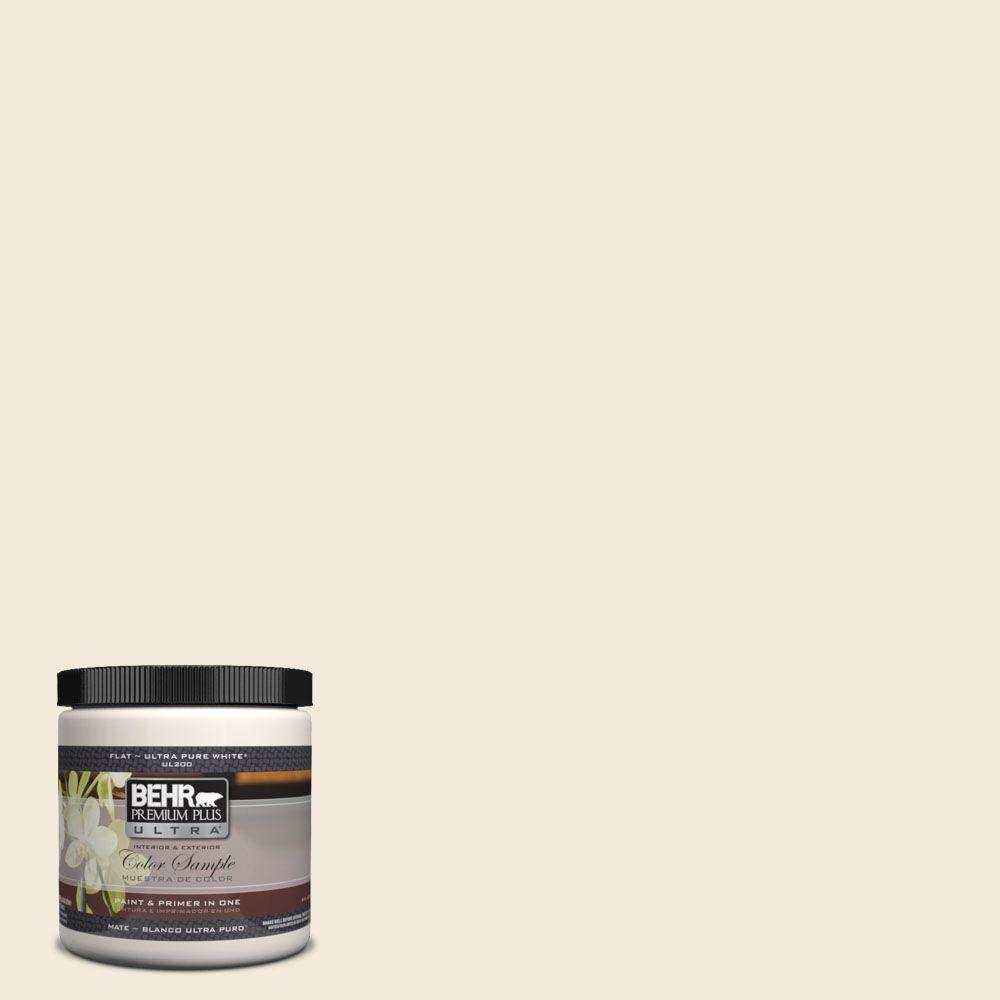 Behr Premium Plus Ultra 8 Oz Ul160 11 Coastal Beige Flat Interior Exterior Paint And Primer In