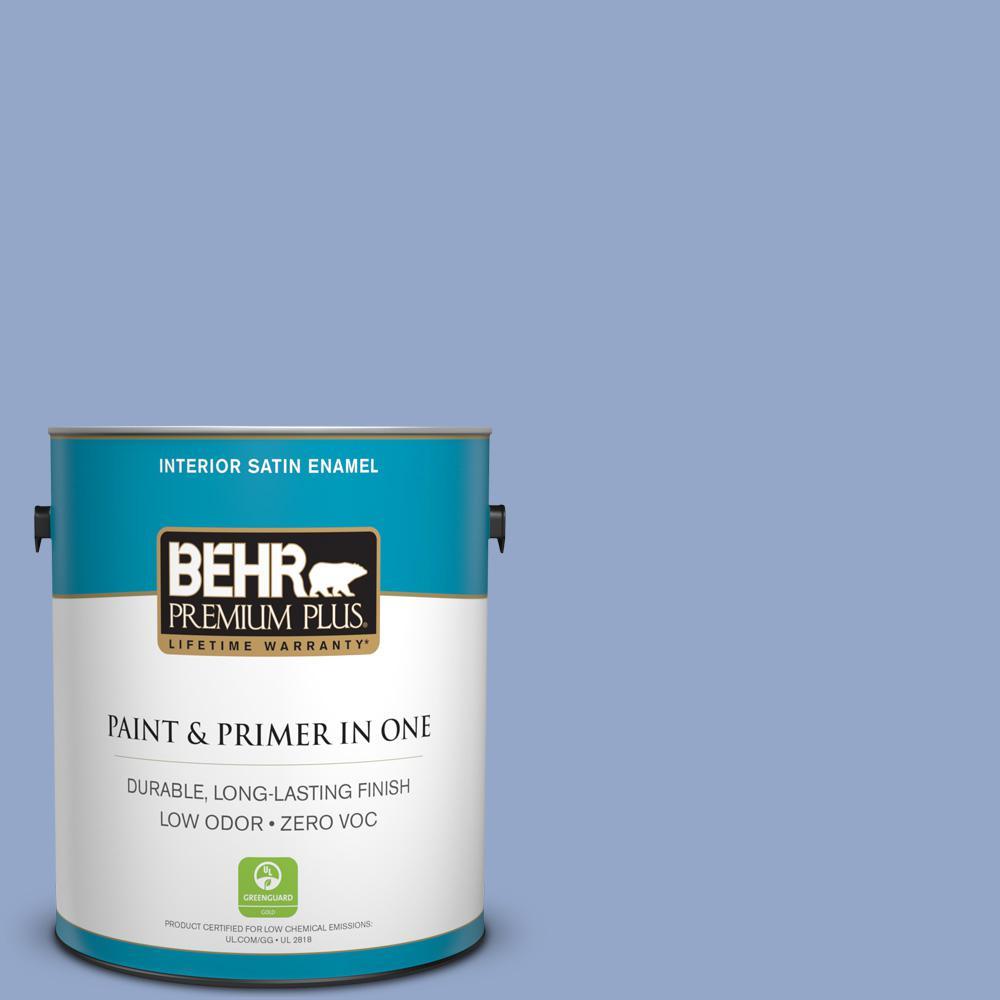 BEHR Premium Plus 1-gal. #600D-4 Finesse Zero VOC Satin Enamel Interior Paint