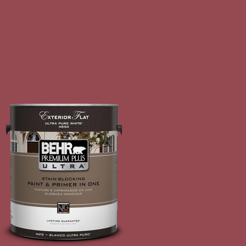 BEHR Premium Plus Ultra 1-Gal. #UL100-10 Crantini Flat Exterior Paint-DISCONTINUED