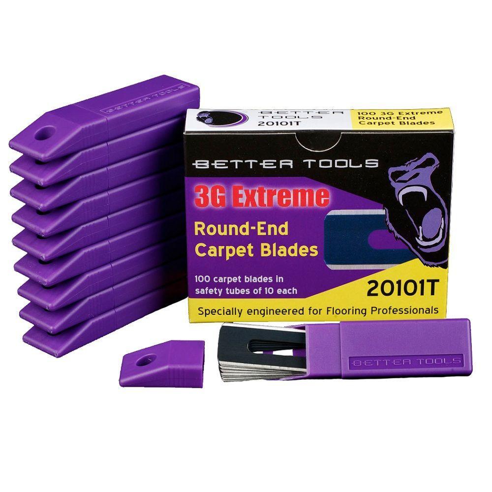 0.017 in. Round End Carpet Blades (100-Box)