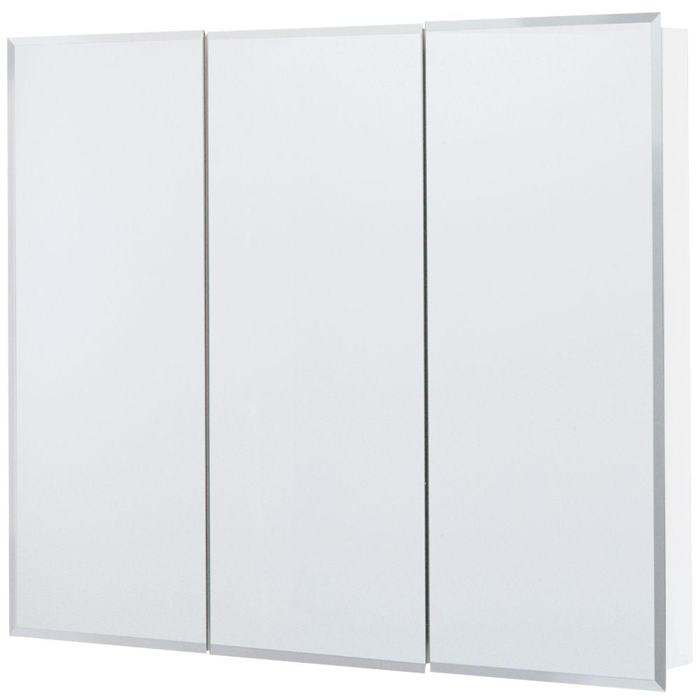 36 in. x 29 in. Frameless Surface-Mount Bathroom Medicine Cabinet in