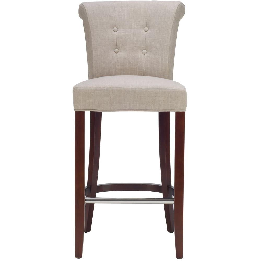 Safavieh Addo 29 7 In Flat Cream Cushioned Bar Stool