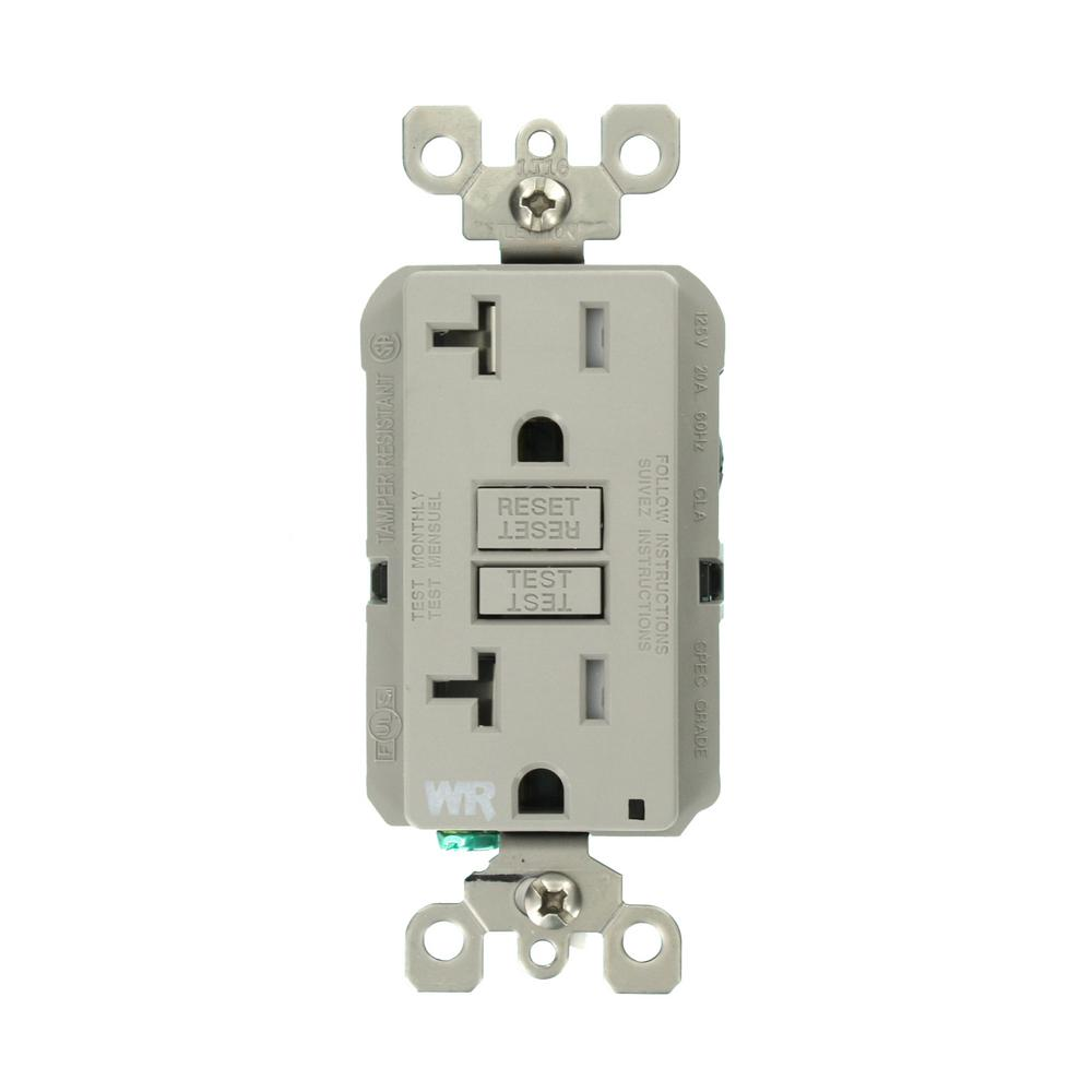 Leviton 20 amp smartlockpro weather tamper resistant gfci for Depot outlet bochum