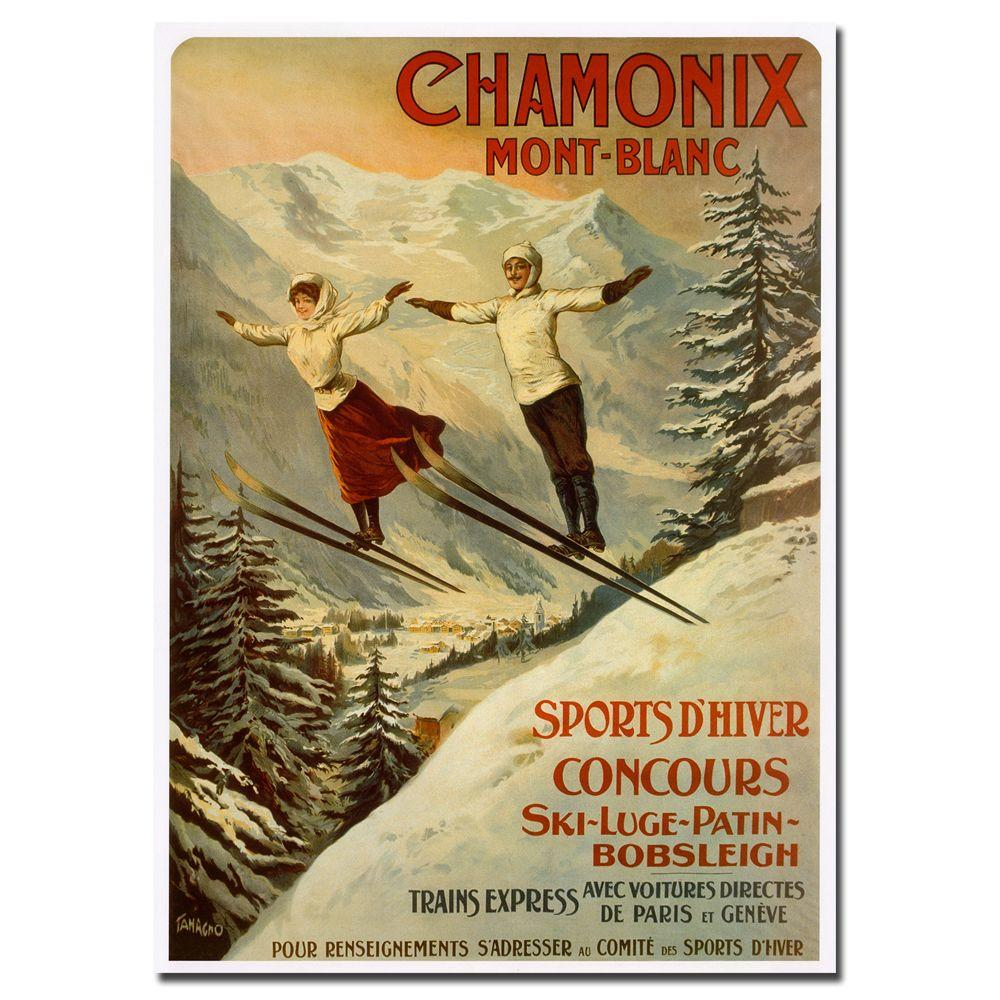 24 in. x 32 in. Chamonix Mont Blanc Canvas Art-V7088-C2432GG - The ...