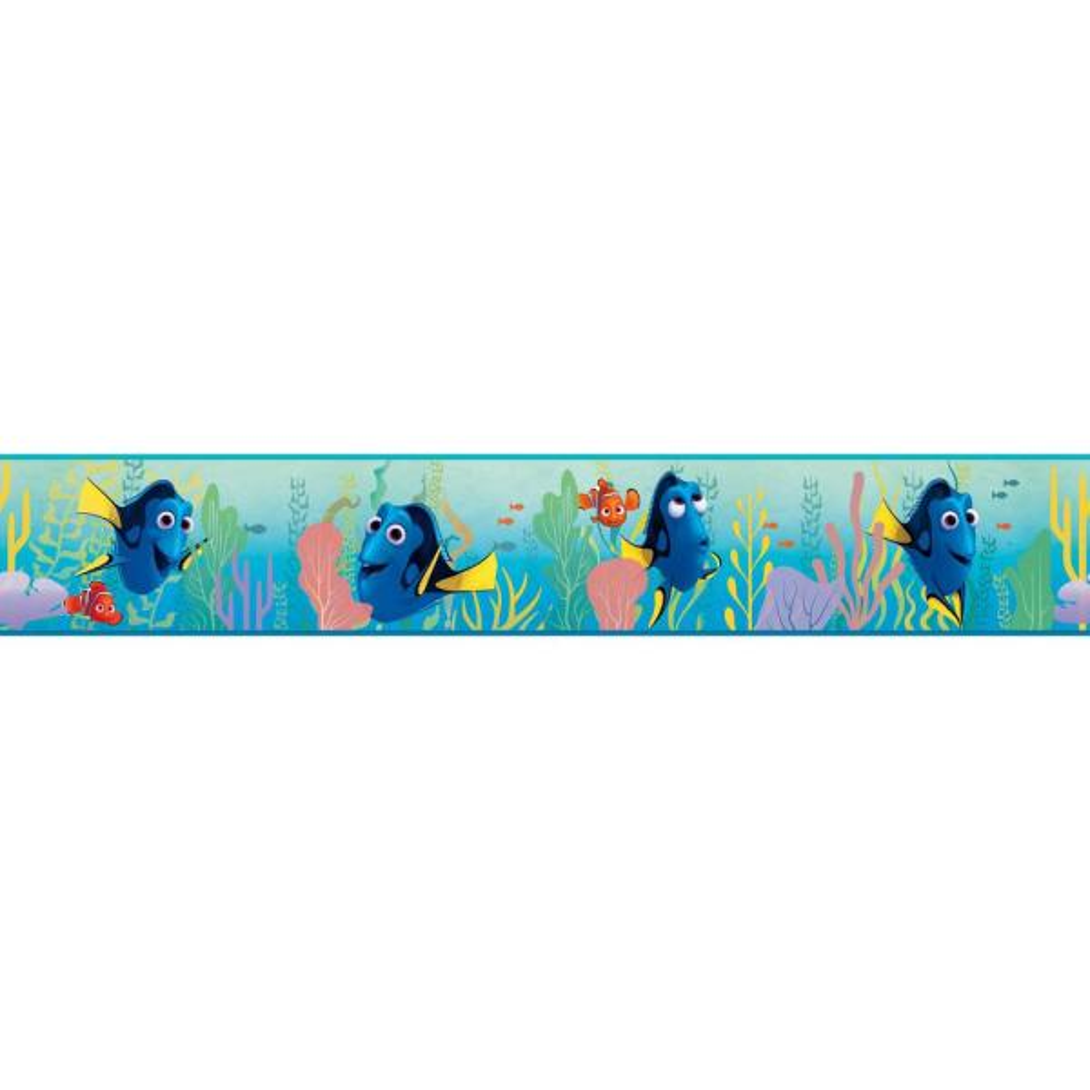 York Wallcoverings Disney Kids III Disney Pixar Finding Dory Border DY0118BD