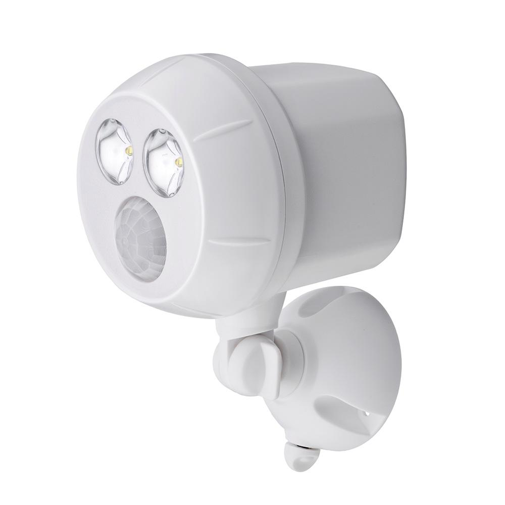 400 Lumen Outdoor White Weatherproof Wireless Battery Ed Led Ultra Bright Spot Light With Motion Sensor