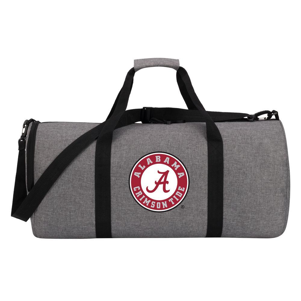 Alabama Wingman 10 In Heathered Gray Duffle Bag