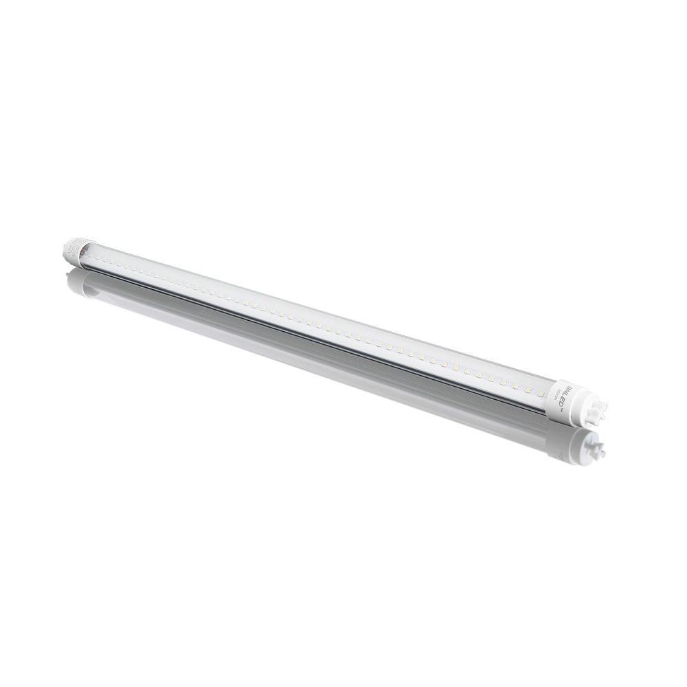 3nled 4 ft t8 18 watt cool white clear lens linear led tube light bulb snt8b 12s the home depot. Black Bedroom Furniture Sets. Home Design Ideas