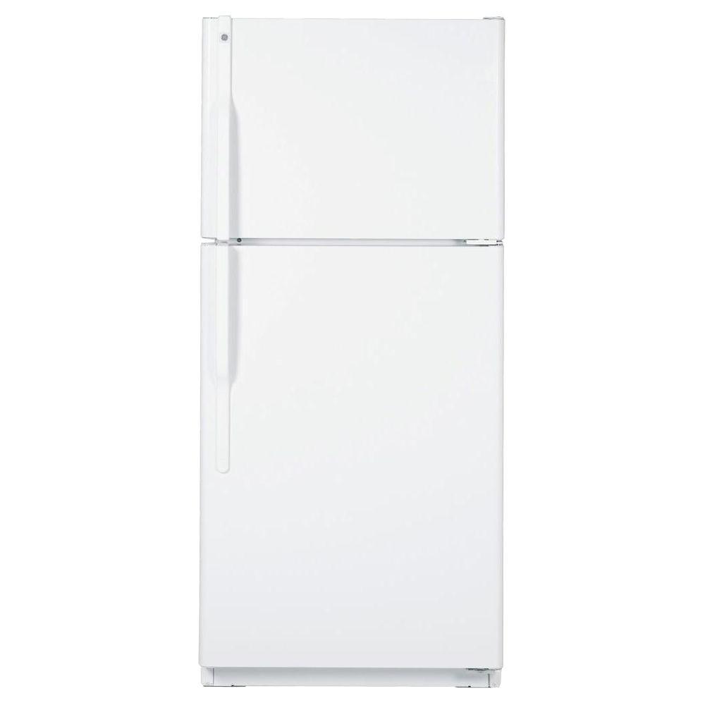 GE 18 cu. ft. Top Freezer Refrigerator in White