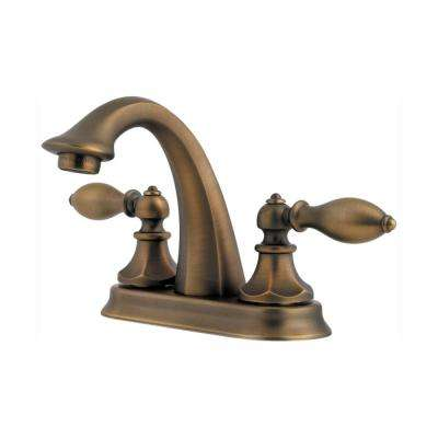 Catalina 4 in. Centerset 2-Handle Bathroom Faucet in Velvet Aged Bronze