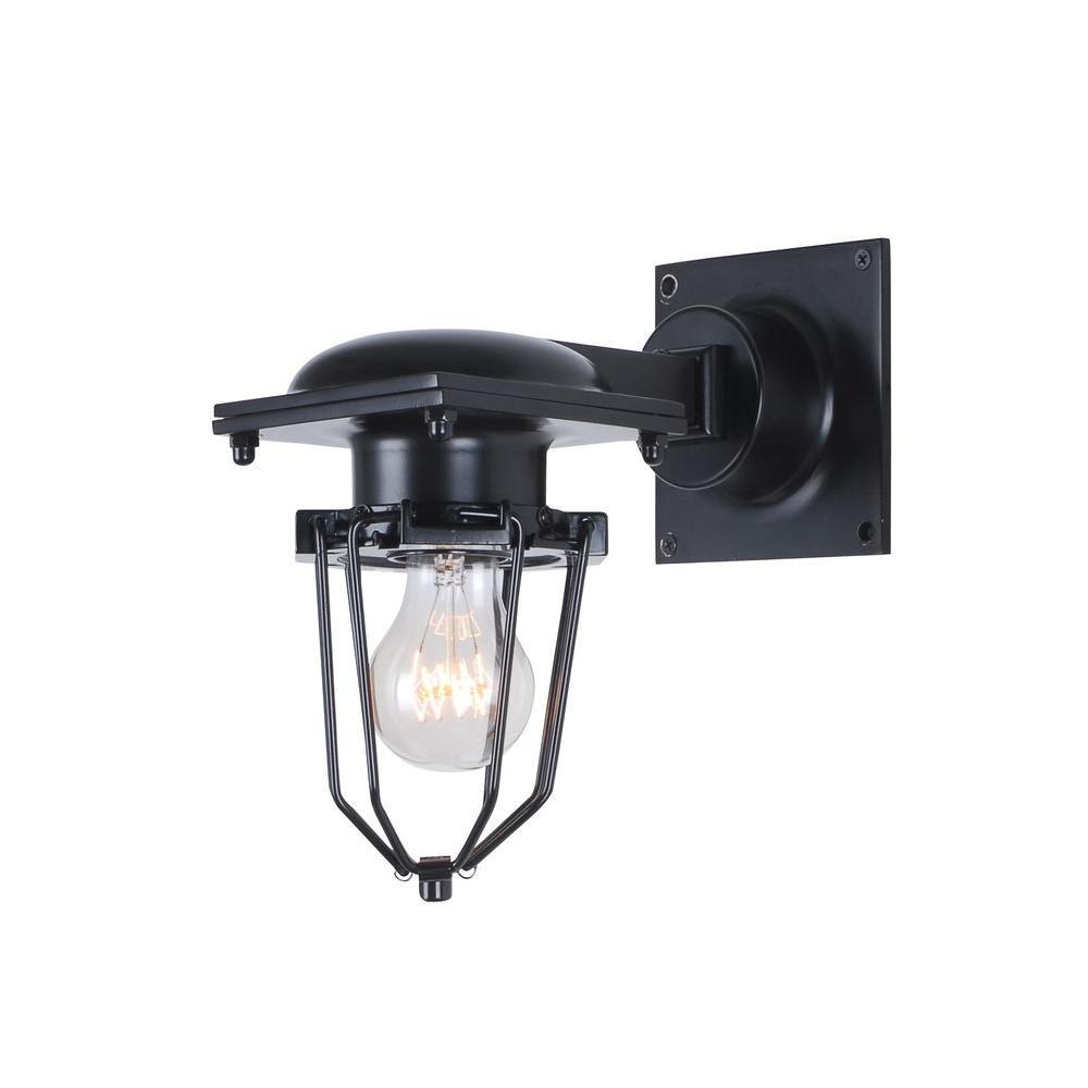 Elegant Lighting Kingston 1-Light Black Wall Sconce