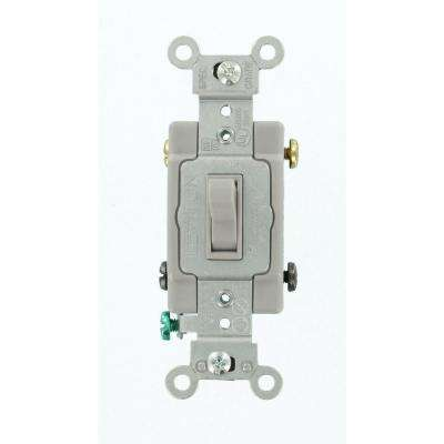 15 Amp Commercial Grade 4-Way Toggle Switch, Gray