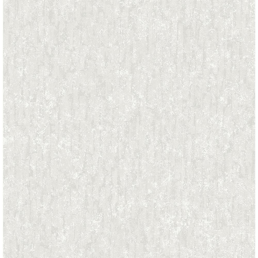 56.4 sq. ft. Cole White Winter Plain Wallpaper